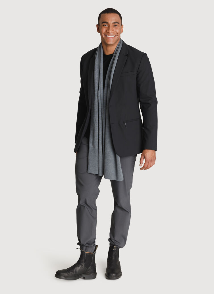Merino Scarf, HTHR Anchor Grey | Kit and Ace