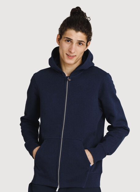 Coasting Full Zip Hoodie, HTHR Deep Navy | Kit and Ace