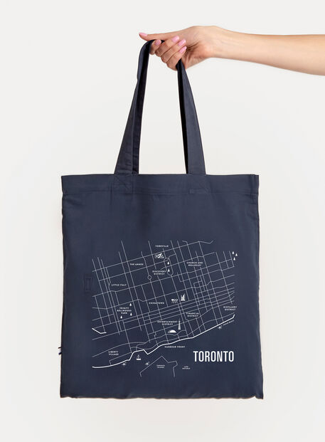 City Tote Bag, Navy/Toronto | Kit and Ace
