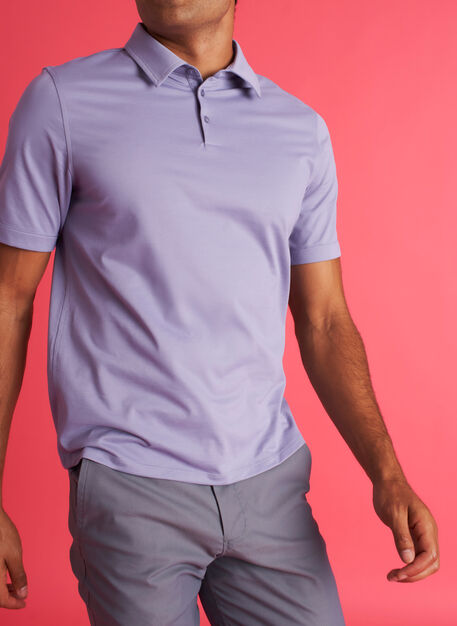 City Tech Polo Tee, Lavender | Kit and Ace