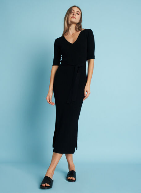 Dreamy Merino Dress, Black | Kit and Ace