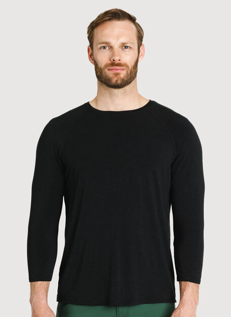 Ace Tech Jersey Baseball Tee, HTHR Black | Kit and Ace
