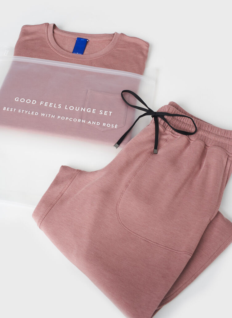 Good Feels Lounge Set, Heather Fawn | Kit and Ace