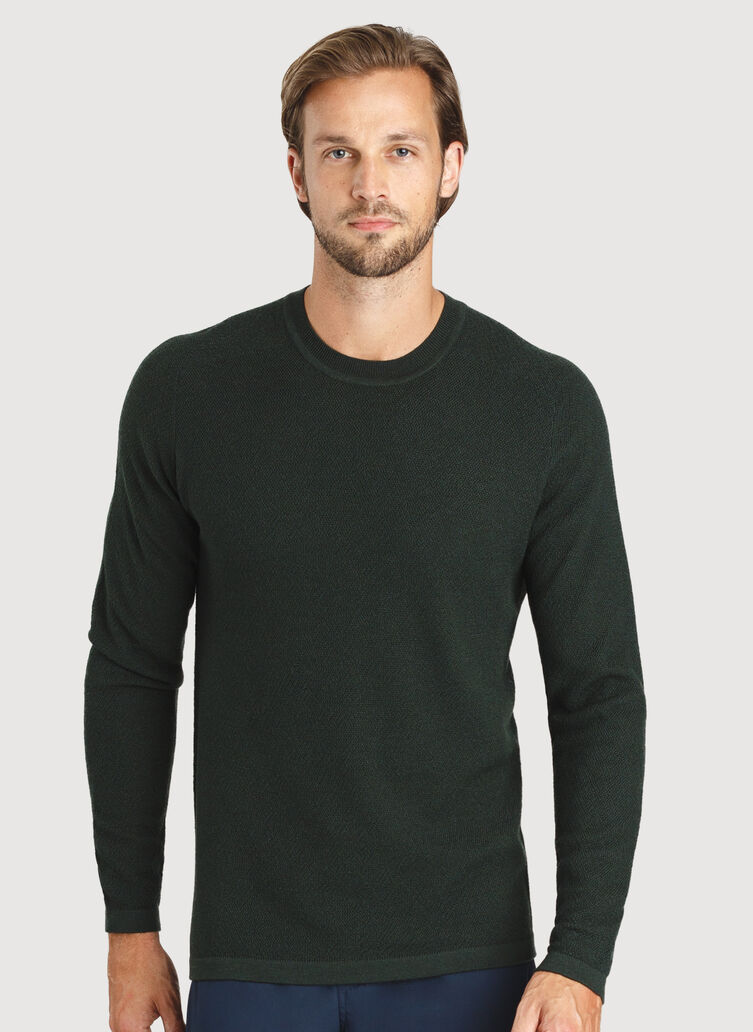A to B Merino Sweater, Deep Forest | Kit and Ace