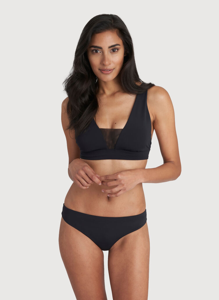Low Tide Bikini Bottom, Black | Kit and Ace