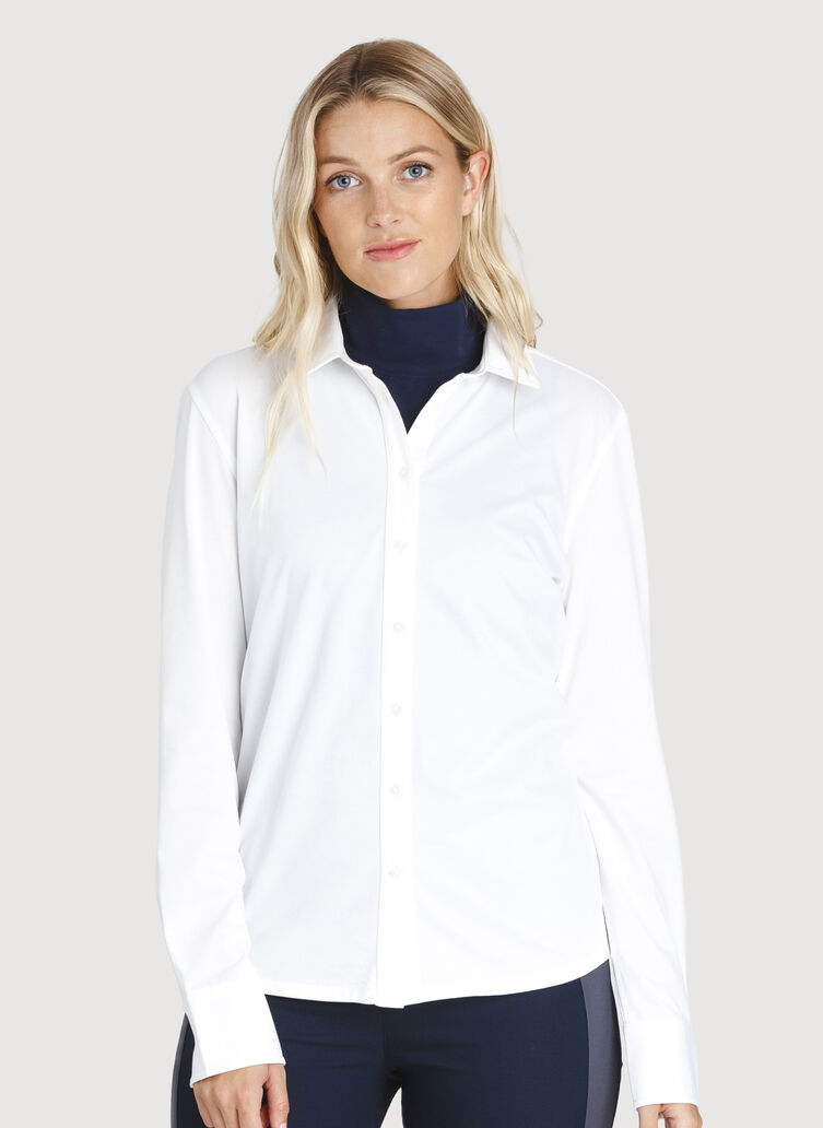 O.T.M. Long Sleeve Button Up, Bright White | Kit and Ace
