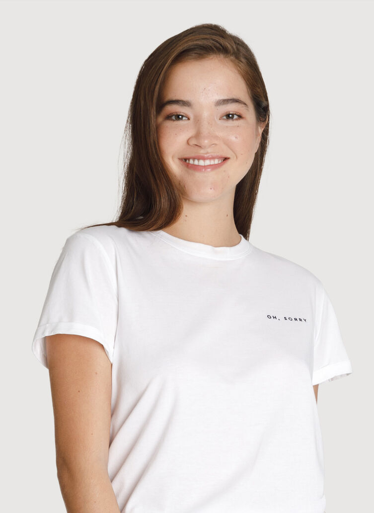 Kit Local Tee, SORRY - WHITE | Kit and Ace