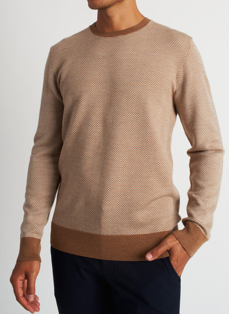 All Day Merino Sweater, Heather Toffee/Beach | Kit and Ace
