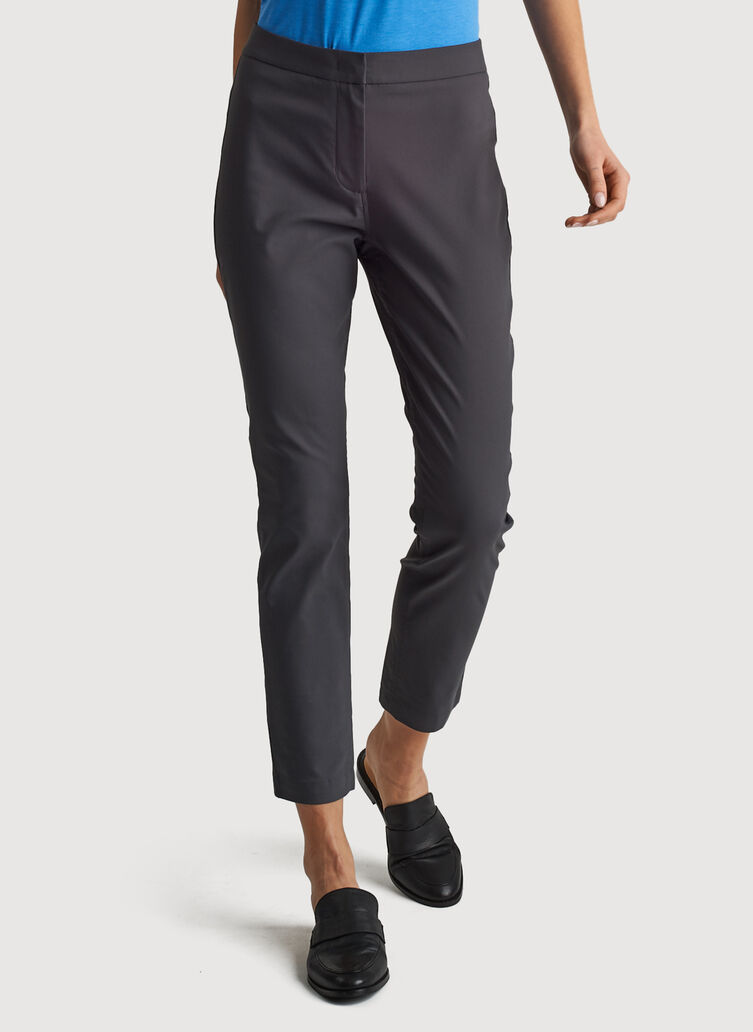 Navigator Ride Ankle Pant Skinny Fit, Charcoal | Kit and Ace