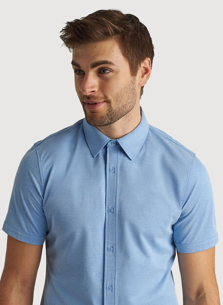 City Tech Short Sleeve Shirt, Iconic Blue Chambray   Kit and Ace