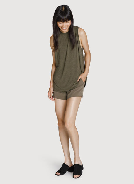 Stretch Silk Short, Moss | Kit and Ace