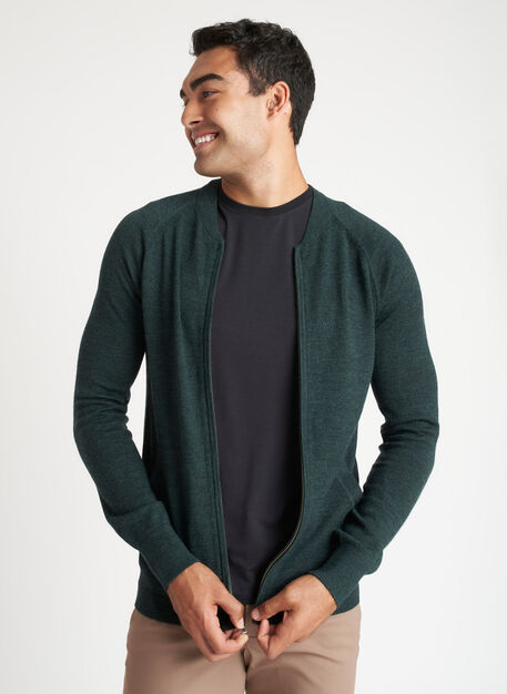 A to B Merino Bomber, Heather Deep Pine   Kit and Ace