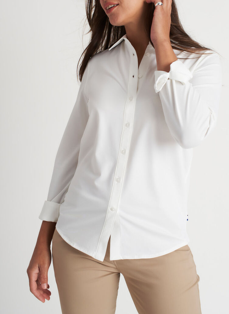 O.T.M. Classic Blouse, Bright White | Kit and Ace
