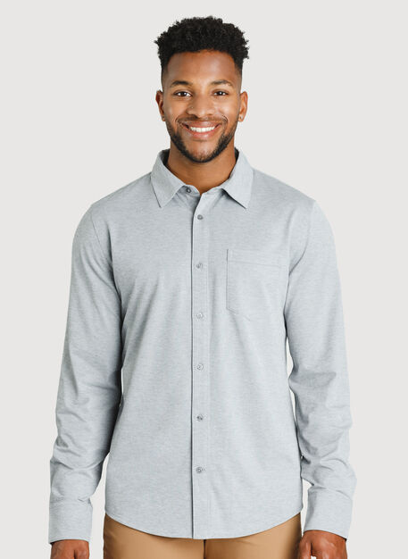 City Tech Classic Shirt, Grey Chambray | Kit and Ace