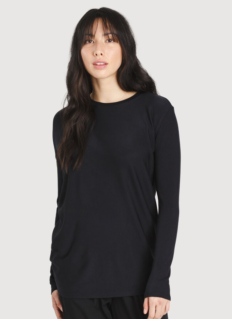 Wave Long Sleeve, BLACK | Kit and Ace