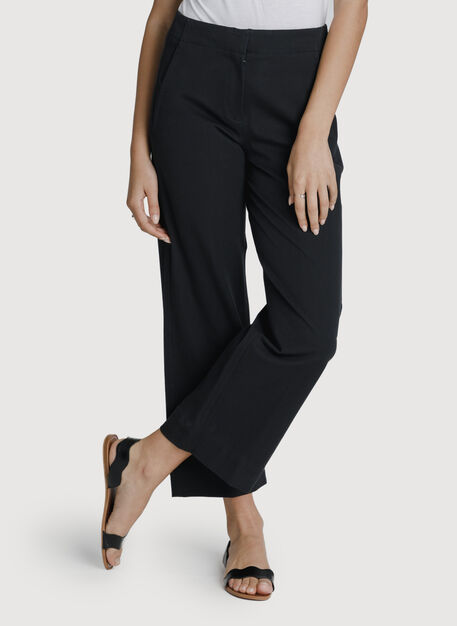 Coast to Coast Wide Leg Trouser, Jet Black | Kit and Ace