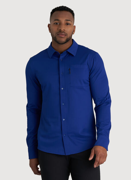Geared Up Long Sleeve Shirt, KITS Blue | Kit and Ace