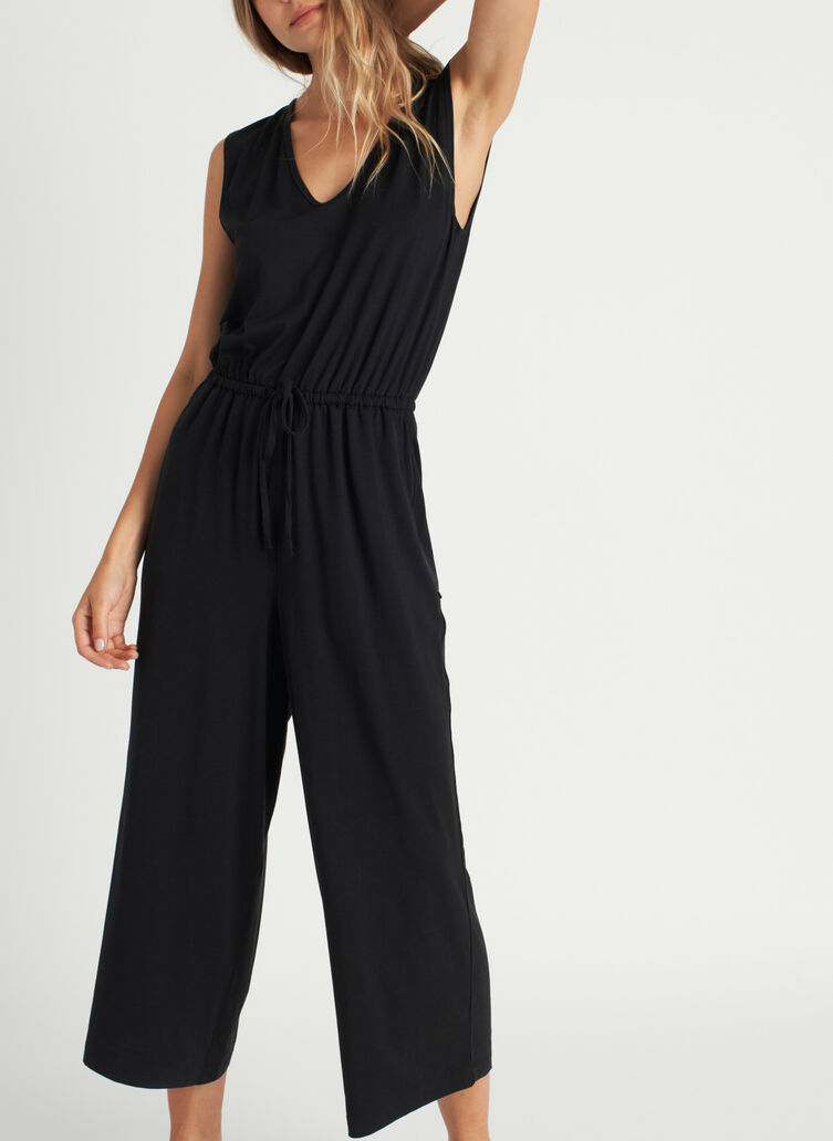 At Ease Jumpsuit, Black | Kit and Ace
