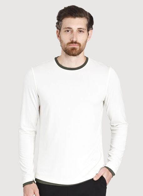 Ace Reversible Long Sleeve, Ecru/Ivy | Kit and Ace