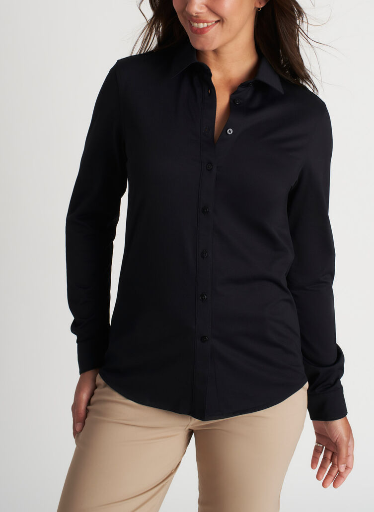 O.T.M. Classic Blouse, Black | Kit and Ace