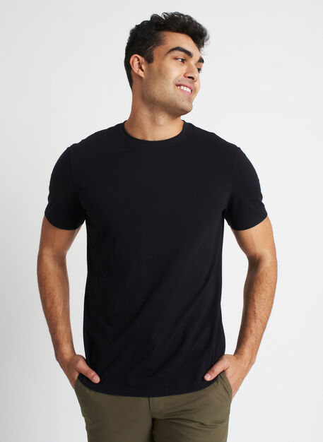 Ace Pima Crewneck Tee, Black | Kit and Ace