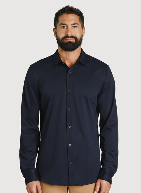 Court Stretch Long Sleeve, DK Navy | Kit and Ace