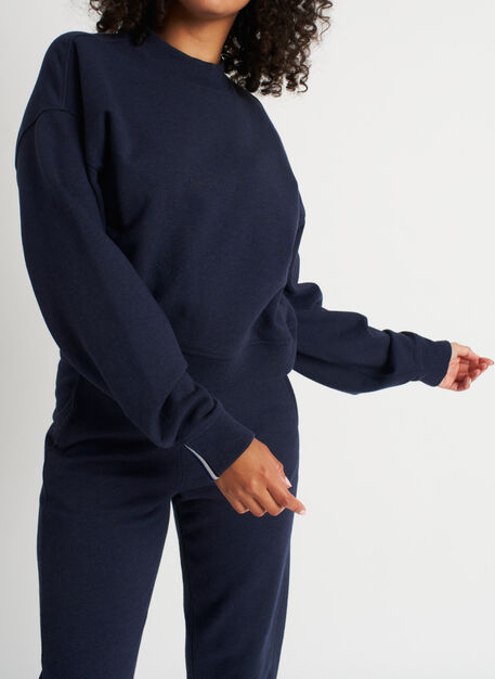 Pacific Coast Pullover, Heather Dark Navy | Kit and Ace