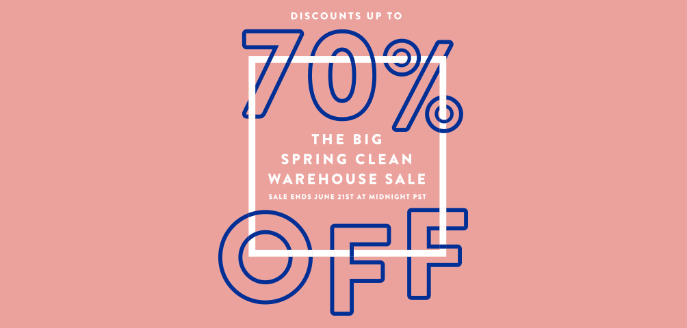 The Big Spring Clean Warehouse Sale